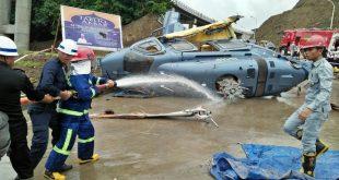 Helikopter ditumpangi pekerja asing jatuh,1 orang meninggal