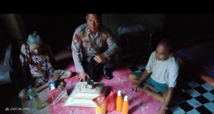 Kisah Pilu Nenek Tua Di Parimo dan Polisi Berhati Mulia