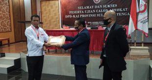 Ketua DPD KAI Resmi Buka Ujian Calon Advokat Sulawesi Tengah