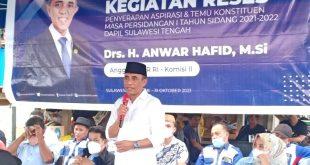 Ketua DPD Partai Demokrat Sulteng Anwar Hafid Beri Solusi Masalah Dihadapi Warga Parimo